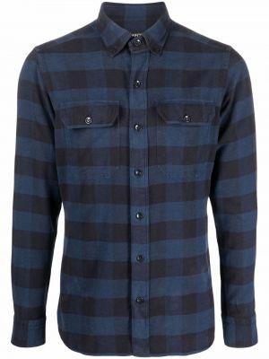 Синяя рубашка классическая Tom Ford