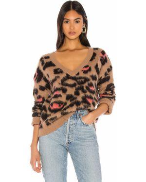 Sweter z moheru prążkowany Wildfox Couture