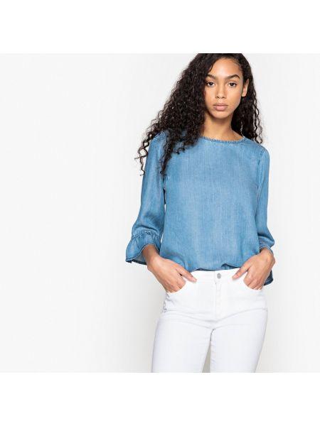 Блузка с вырезом однотонная Vero Moda
