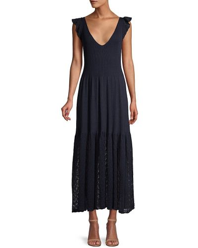 Льняное платье миди без рукавов с V-образным вырезом Rebecca Taylor