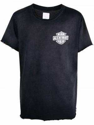 Czarna t-shirt krótki rękaw Alchemist