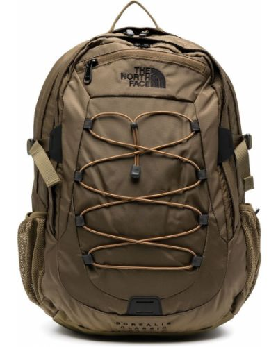 Нейлоновый рюкзак хаки с карманами The North Face