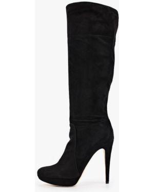 Ботинки на каблуке черные осенние Enzo Logana