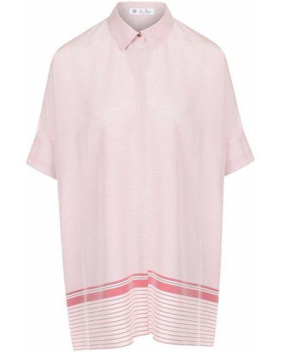 Розовая блузка шелковая Loro Piana