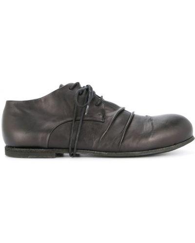 Туфли на каблуке черные на шнуровке Rundholz