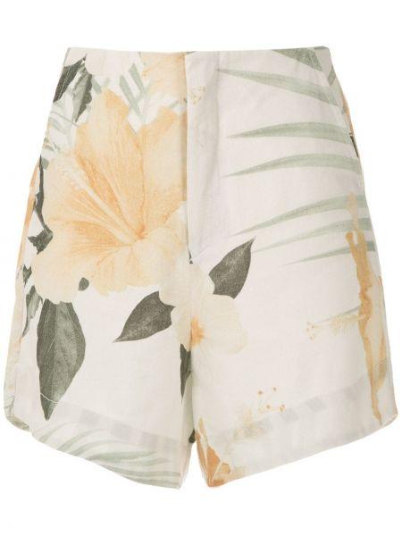 Однобортные белые шорты с карманами Osklen