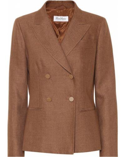 Пиджак льняной кожаный Max Mara