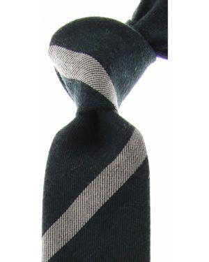 Zielony krawat w paski z jedwabiu Kenzo