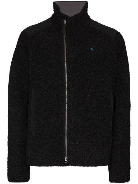 Шерстяная спортивная черная спортивная куртка Klättermusen