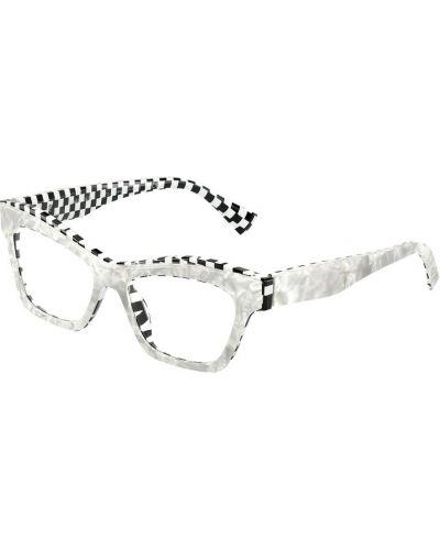 Białe okulary Alain Mikli