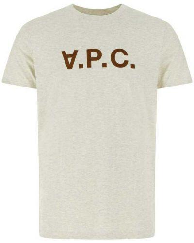 Beżowa t-shirt A.p.c.