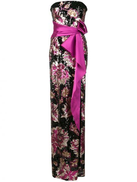 Платье с поясом с пайетками на молнии Marchesa Notte