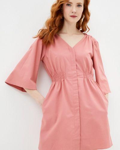 Прямое розовое платье А-силуэта Francesco Donni