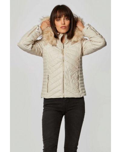 Бежевая теплая куртка Morgan