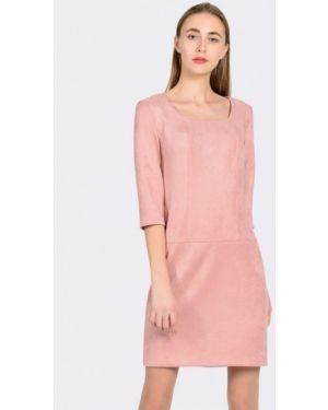 Кожаное розовое платье Cat Orange