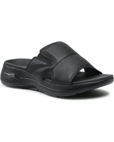 Czarne sandały na lato Skechers