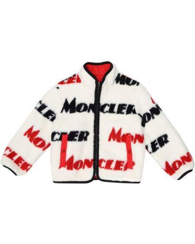 Biała kurtka z akrylu Moncler Enfant