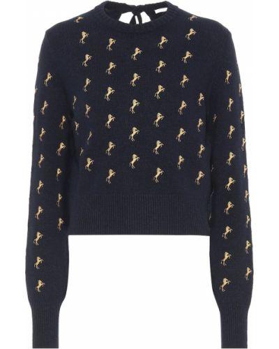 Sweter z wzorem niebieski Chloe