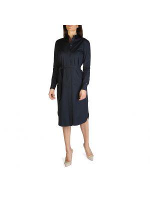 Sukienka bawełniana - niebieska Tommy Hilfiger