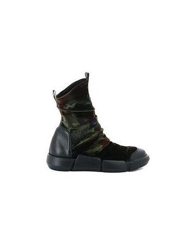 Бархатные зеленые ботинки Elena Iachi