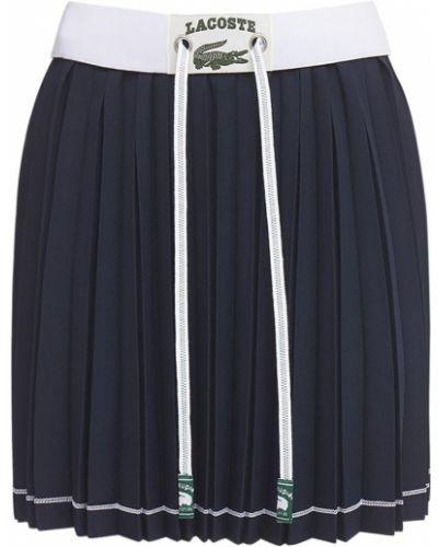 Синяя плиссированная юбка на резинке Lacoste