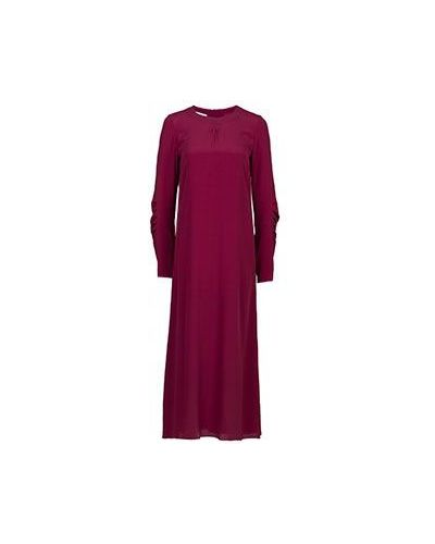 Платье макси бордовый красный Marni