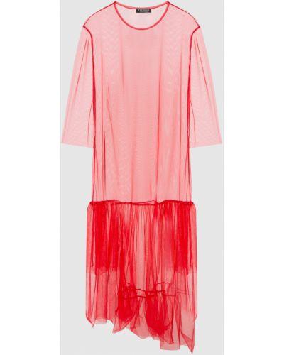 Красное платье миди Twin-set