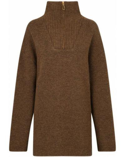 Brązowy sweter Nanushka