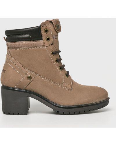 Кожаные сапоги на шнуровке на каблуке Wrangler
