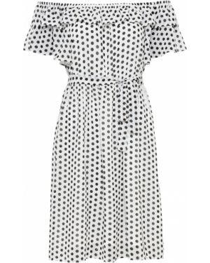 Платье мини с поясом с вырезом Bonprix
