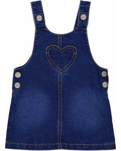 Летнее платье джинсовое на бретелях Mothercare