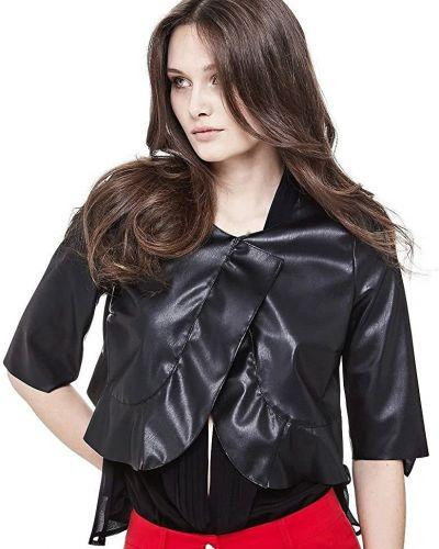 Кожаный пиджак - черный Marciano