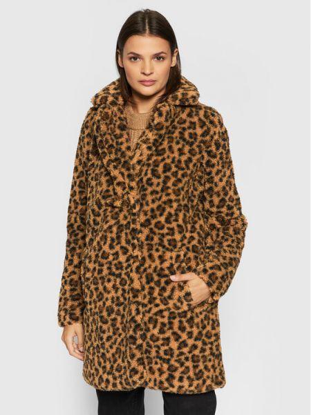 Brązowy płaszcz zimowy Noisy May