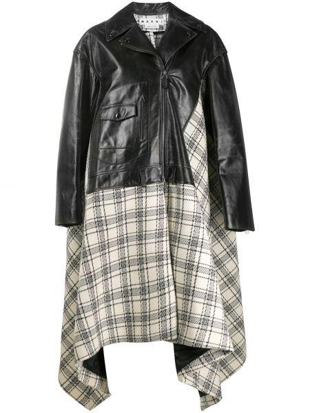 Шерстяное пальто - черное Marni