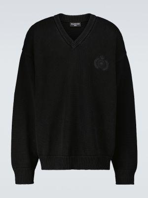 Sweter z haftem - czarny Balenciaga