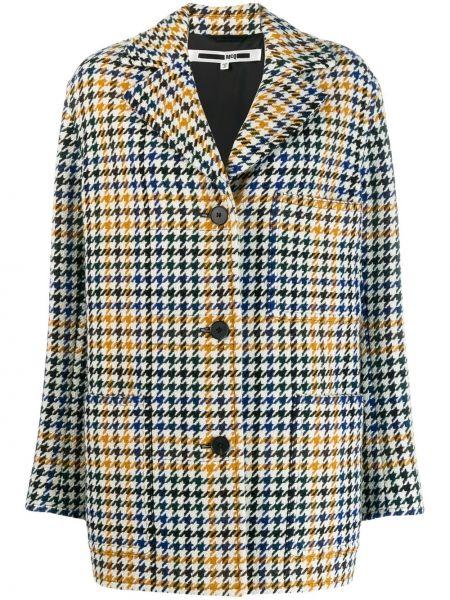 Желтое пальто классическое с капюшоном с воротником Mcq Alexander Mcqueen
