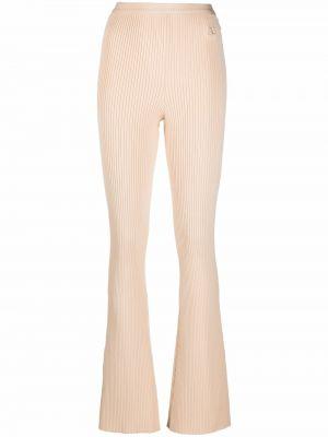 Beżowe spodnie z wiskozy Courreges