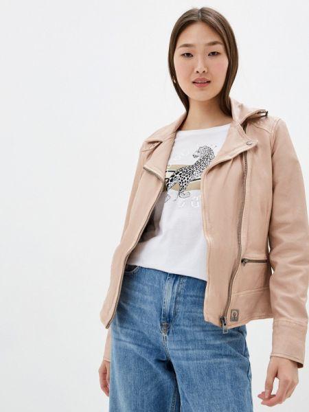 Кожаная розовая кожаная куртка Oakwood