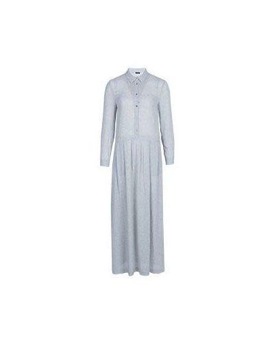 Платье серое из вискозы Peserico
