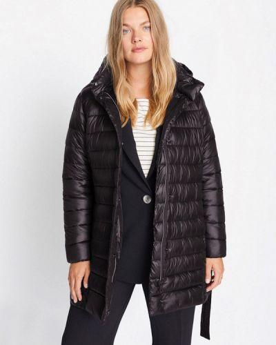 Теплая черная утепленная куртка Violeta By Mango