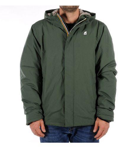 Zielony płaszcz K-way