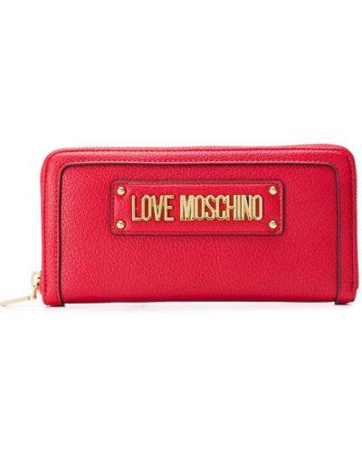 Кошелек на молнии круглый Love Moschino