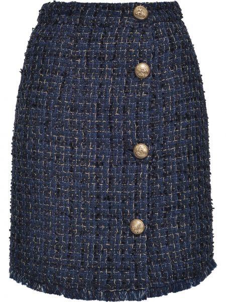 Spódnica mini różowy niebieska Pinko