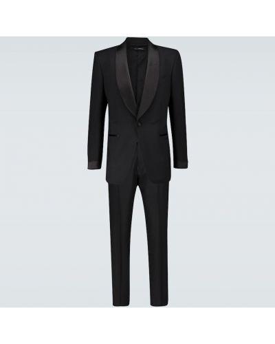 Шерстяной черный платок с воротником Tom Ford