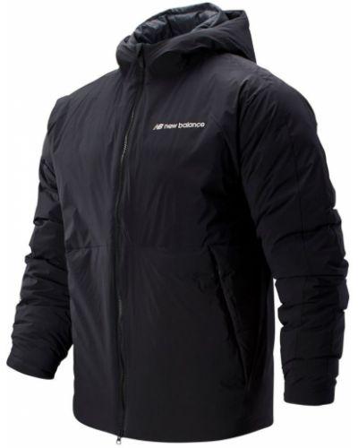 Черная утепленная спортивная куртка с перьями New Balance