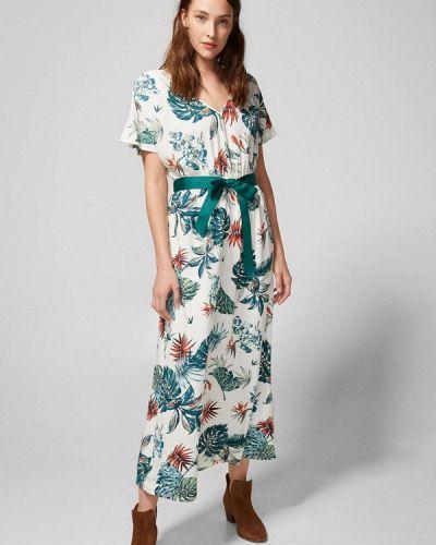 Разноцветное платье - белое Springfield
