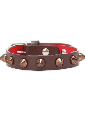 Красный кожаный браслет Christian Louboutin