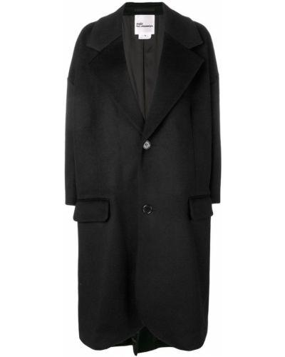 Шерстяное черное длинное пальто с капюшоном Comme Des Garçons Noir Kei Ninomiya