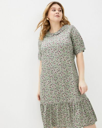 Повседневное зеленое платье Prewoman