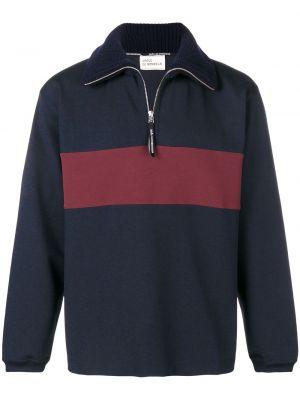 Niebieski sweter bawełniany z długimi rękawami Drole De Monsieur